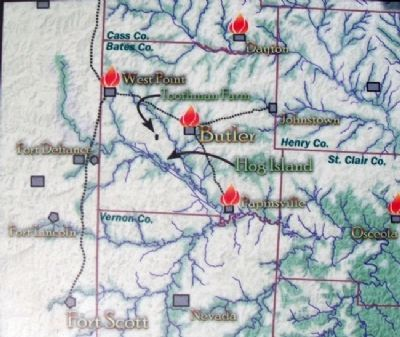 Map on The Toothman Farm Marker Photo, Click for full size