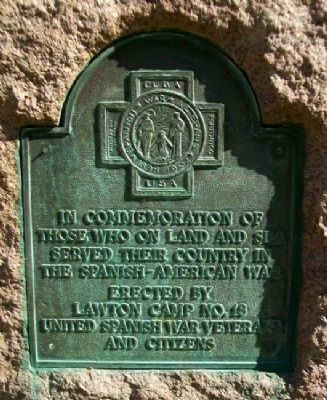 Spanish-American War Memorial Marker Photo, Click for full size