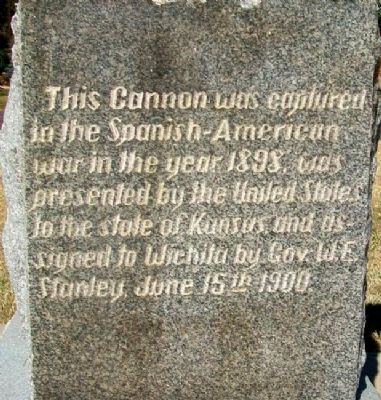 Spanish-American War Memorial Cannon Marker Photo, Click for full size