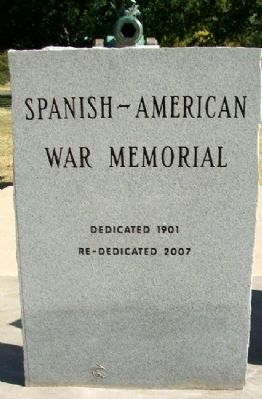Spanish-American War Memorial Photo, Click for full size