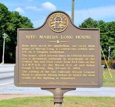 Site: Marcus Long House Historical Marker