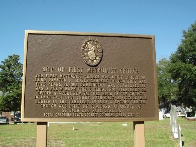 Site of First Methodist Church Marker image. Click for full size.