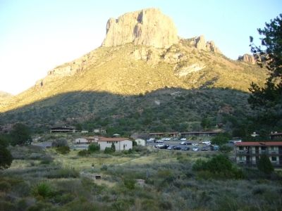 Casa Grande and the Chisos Mountain Lodge image. Click for full size.