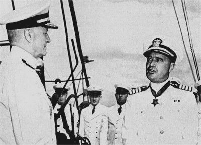 Capt. Cassin Young (<i>San Francisco&#39;s</i> C.O., K.I.A. at Guadalcanal), Photo, Click for full size