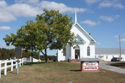 Bethel Church and Marker image. Click for full size.
