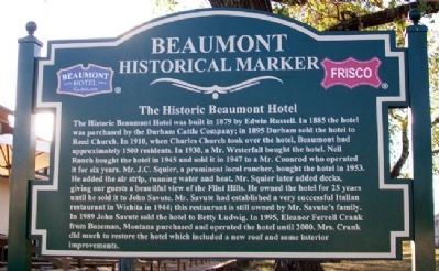 The Historic Beaumont Hotel Marker (Side A) image. Click for full size.