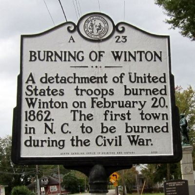 Burning of Winton Marker image. Click for full size.