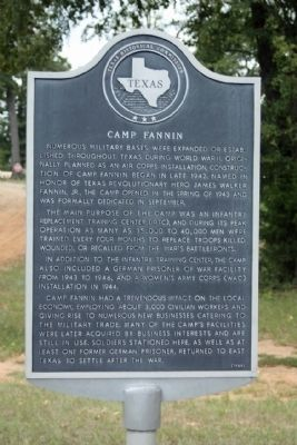 Camp Fannin Marker Photo, Click for full size