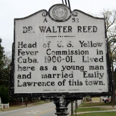 Dr. Walter Reed Marker Photo, Click for full size