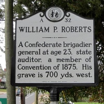 William P. Roberts Marker Photo, Click for full size