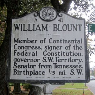 William Blount Marker image. Click for full size.