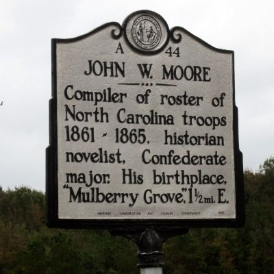John W. Moore Marker image. Click for full size.