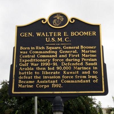 Gen Walter E Boomer A War Memorial