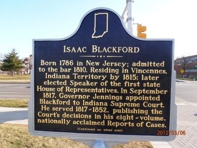 Isaac Blackford Marker, side one Photo, Click for full size