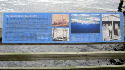 The Cannon's Ferry Community Marker image. Click for full size.