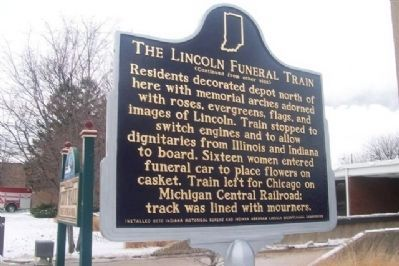 Lincoln Funeral Train Marker Photo, Click for full size