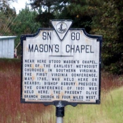 Mason's Chapel Marker image. Click for full size.