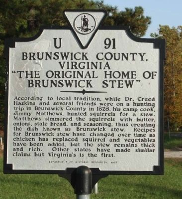 Brunswick County, Virginia Marker image. Click for full size.