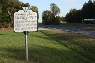 Brunswick County, Virginia Marker, near 5 Forks Access Road, along US 58 image. Click for full size.