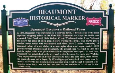 Beaumont Becomes a Railroad Town Marker image. Click for full size.