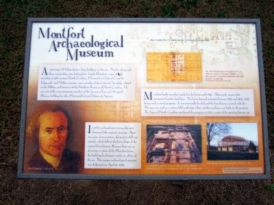 Montfort Archaeological Museum Marker image. Click for full size.