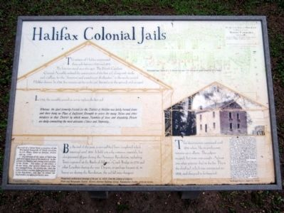 Halifax Colonial Jails Marker image. Click for full size.