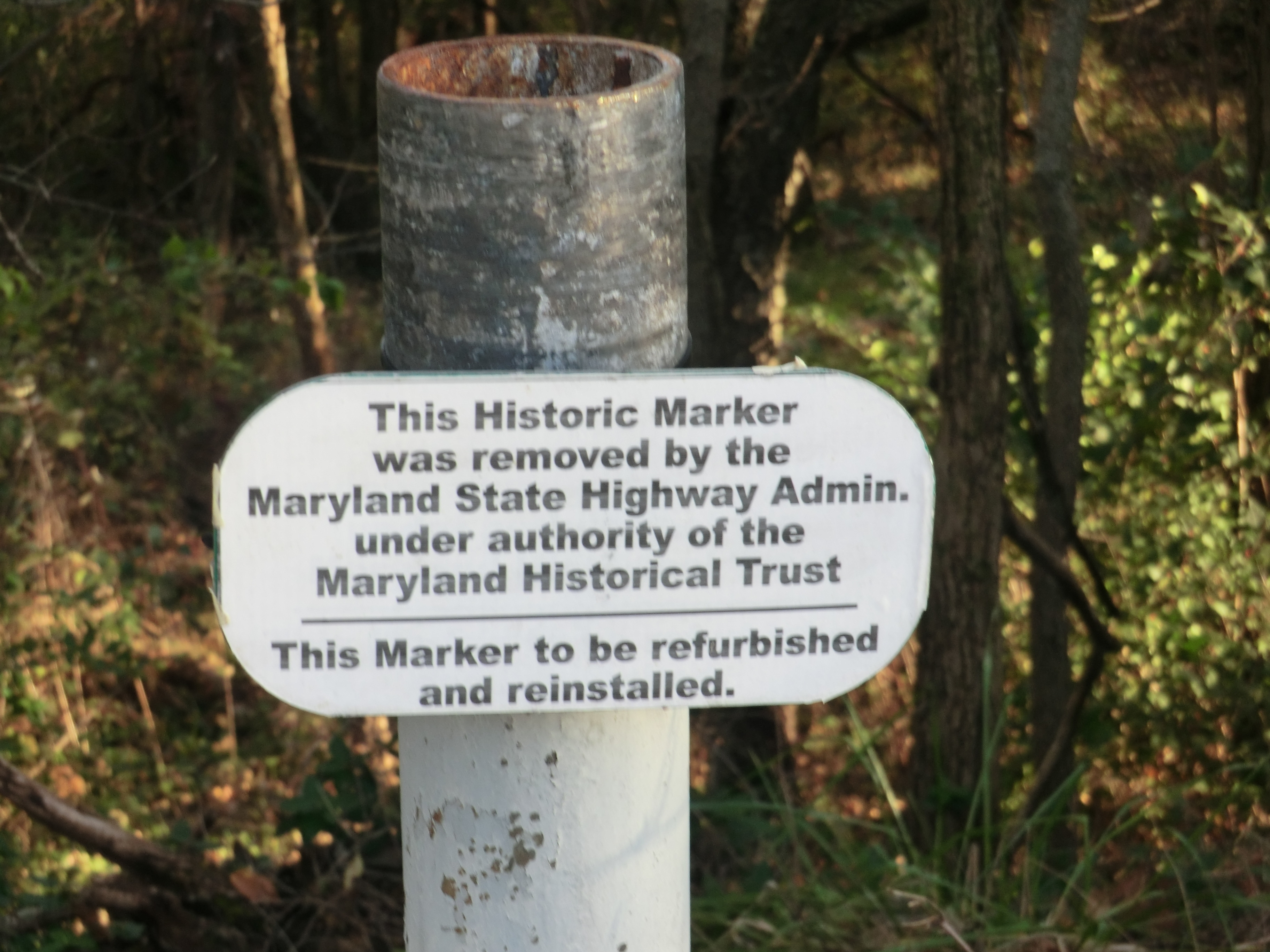 Marker was removed for maintenance