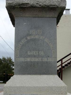 Gates County Confederate Monument image. Click for full size.