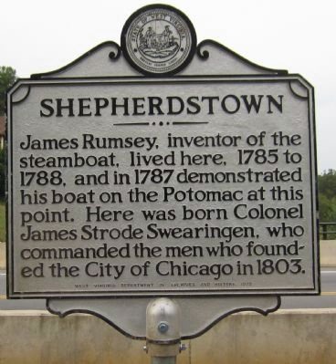 Shepherdstown Marker Photo, Click for full size