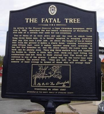The Fatal Tree Marker Photo, Click for full size
