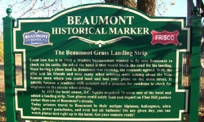 The Beaumont Grass Landing Strip Marker image. Click for full size.