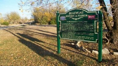 The Beaumont Grass Landing Strip Marker Photo, Click for full size