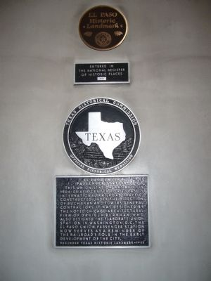 El Paso Union Passenger Station Marker Photo, Click for full size