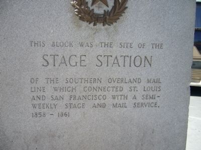 Stage Station Marker Photo, Click for full size