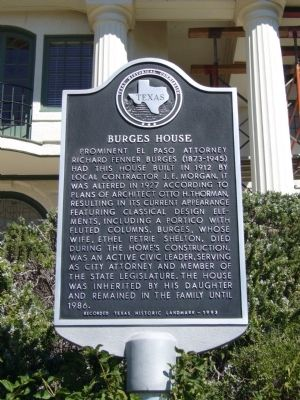 Burges House Marker Photo, Click for full size