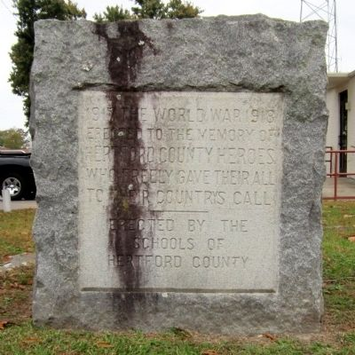 Hertford County WWI Memorial Photo, Click for full size
