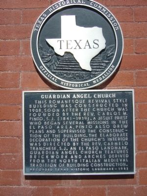 Guardian Angel Church Marker image. Click for full size.