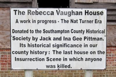 The Rebecca Vaughan House Marker Photo, Click for full size
