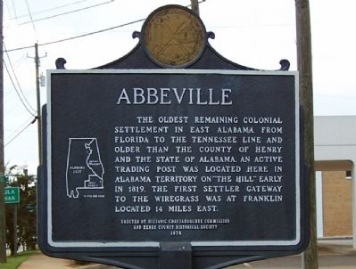 Abbeville/Seven Flags and an Arrow Over Abbeville Marker image. Click for full size.
