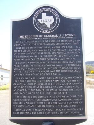 The Killing of General J. J. Byrne Marker image. Click for full size.