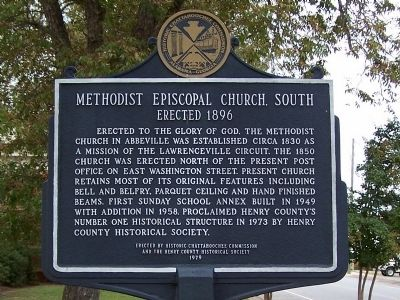 Methodist Episcopal Church, South Marker Photo, Click for full size