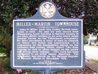 Miller – Martin Townhouse Marker, front Photo, Click for full size