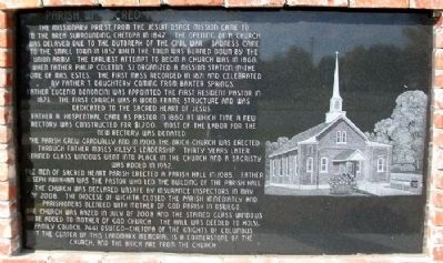 Parish of Sacred Heart - Chetopa Marker (Side A) image. Click for full size.
