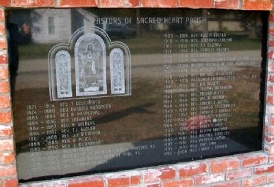 Parish of Sacred Heart - Chetopa Marker (Side B) image. Click for full size.