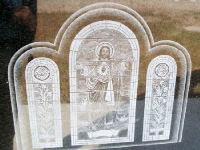 Parish of Sacred Heart - Chetopa Window on Marker image. Click for full size.