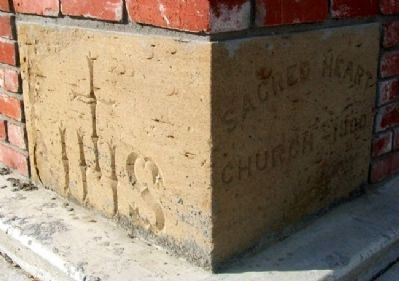 Parish of Sacred Heart - Chetopa Cornerstone (1900) image. Click for full size.