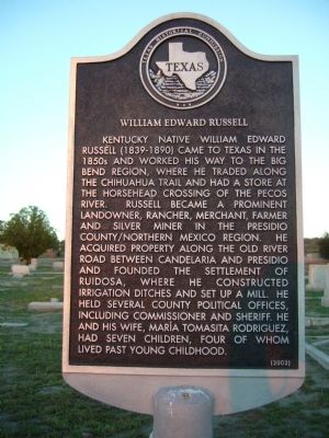 William Edward Russell Marker image. Click for full size.
