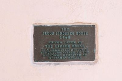 The Jacob Lindberg House Marker image. Click for full size.