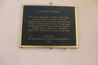12 King Street Marker image. Click for full size.