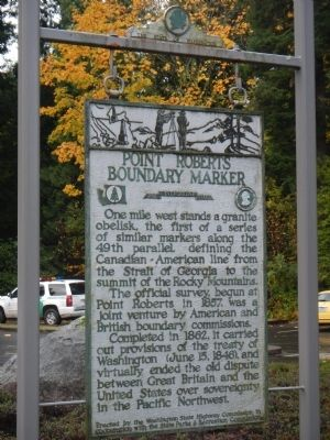 Point Roberts Boundary Marker Marker image. Click for full size.